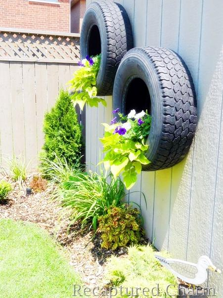 25 cool ways to reuse old tires part 3 - Planters made from old tires ...