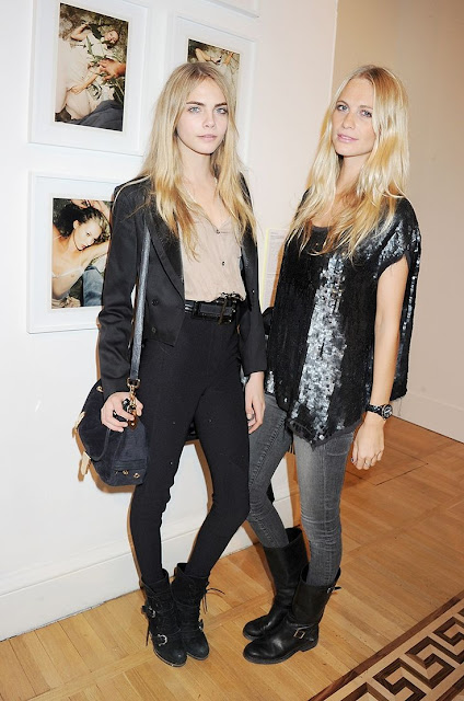 Poppy and Cara Delevingne