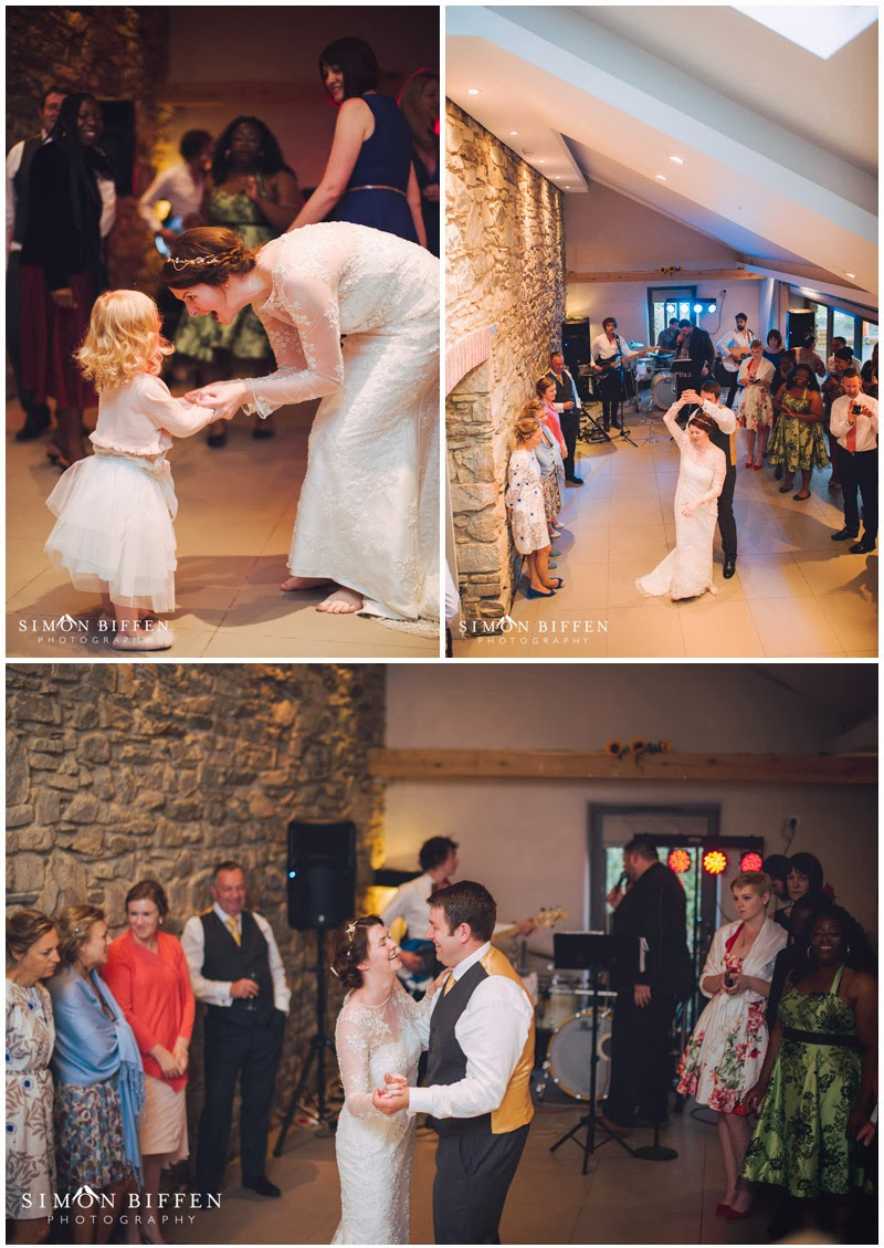 Wedding first dance at Trevenna Cornwall