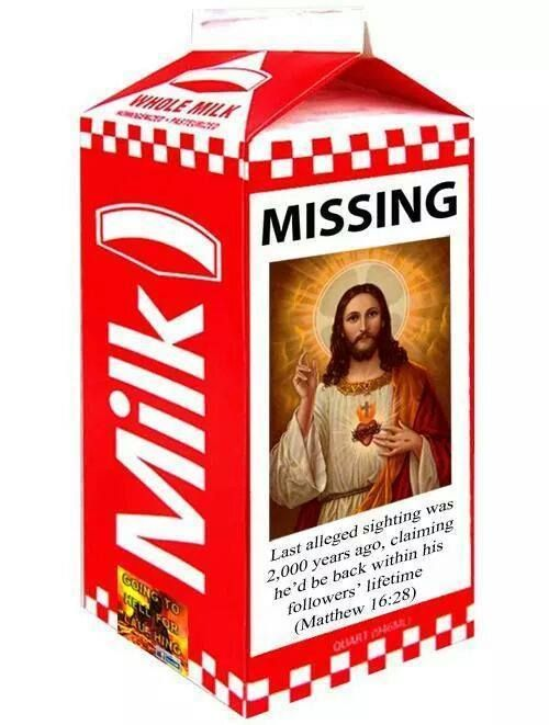 Funny Jesus Missing Milk Notice picture