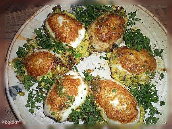 Kk kegala kocht gef llte eier gebraten - Eier hart kochen ...