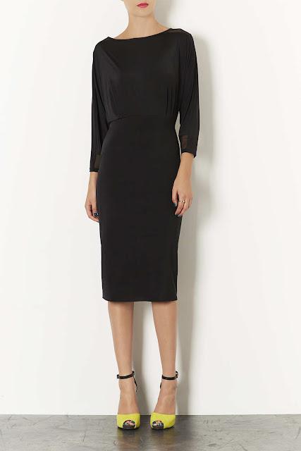 open back black dress