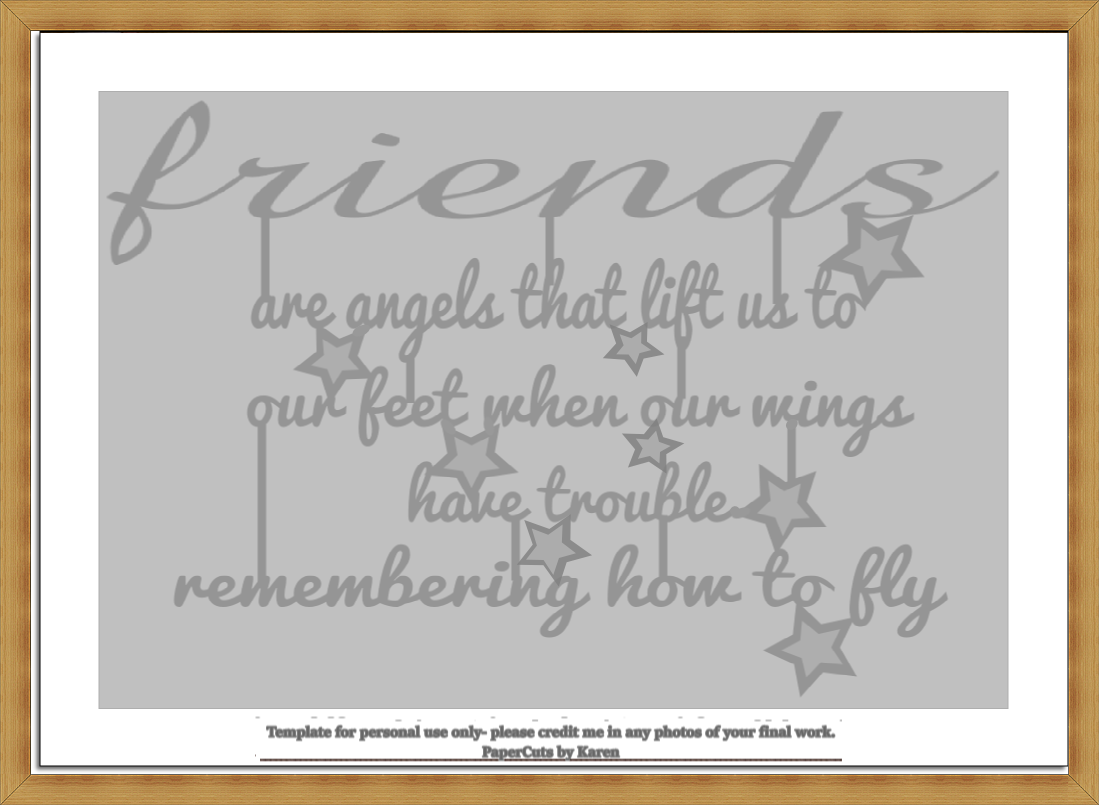 PaperCraft and Crochet: 2 x free \'Friends Are Angels\' paper cutting ...