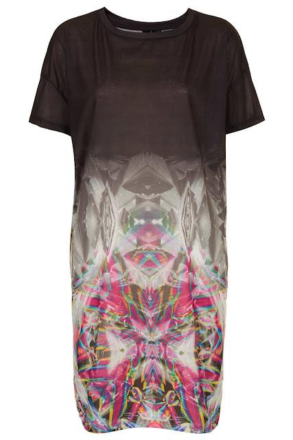 mirror fade tee dress