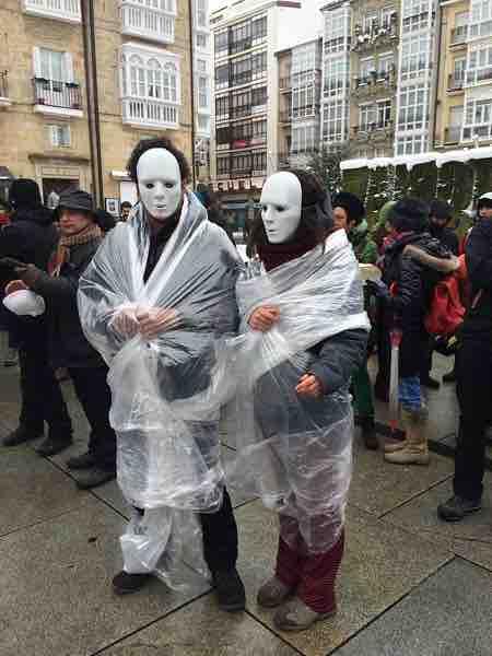 máscaras en el simulacro nuclear