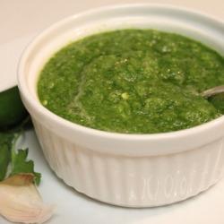Green Salsa Macha Mexican recipes Serrano Pepper Cilantro Garlic MexicoInMyKitchen
