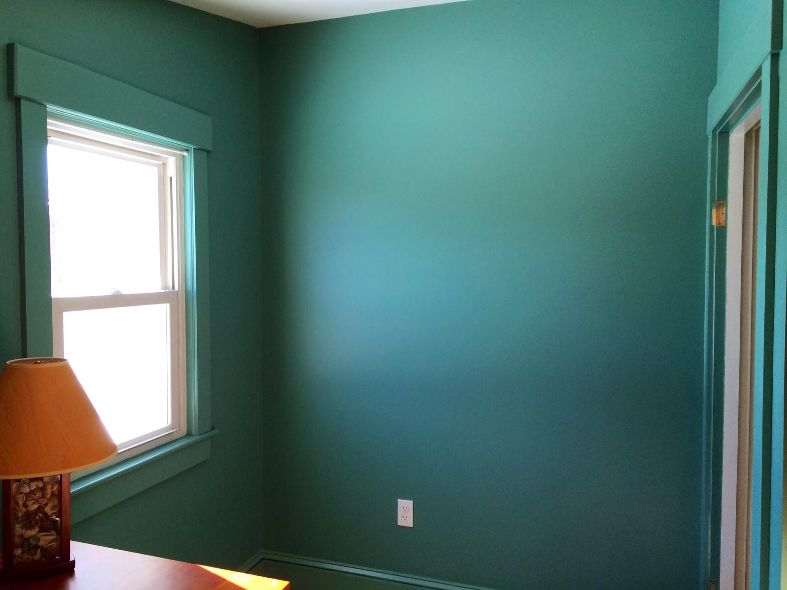 Boxwood terrace home office before after for Paint finishes for walls