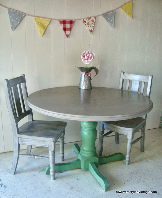 Restyled Vintage Grey Washed Beach Vintage Dining Table : 372 from www.restyledvintage.com size 525 x 640 jpeg 69kB