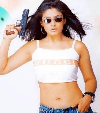 Raveena Tandon navel