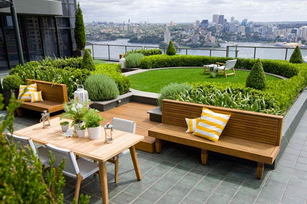 Development of terrace gardens
