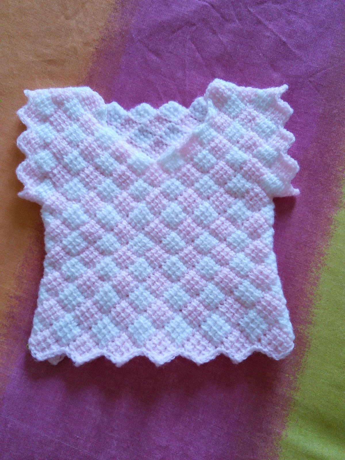 Entrelac crochet i have always enjoyed making baby clothes and managed to find a few patterns for baby clothes made in tunisian crochet but not entrelac bankloansurffo Gallery
