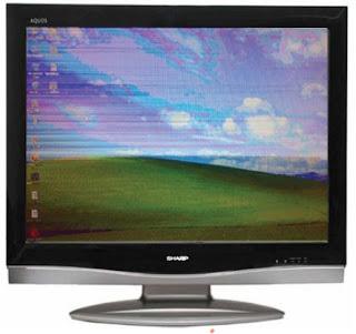 Hình 38 - Hình ảnh bị loang mầu, mất chi tiết khi mất một số tín hiệu Video từ mạch Scaler đến mạch LVDS