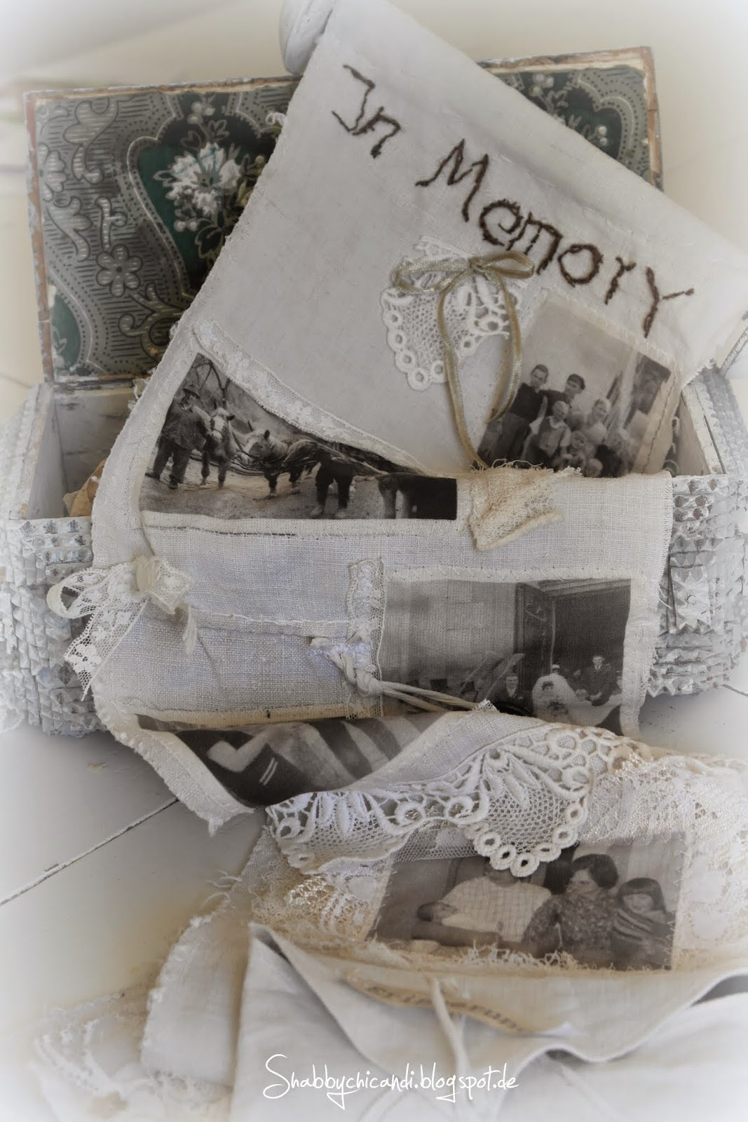 DIY Shabby chic snippet roll Erinnerungsrolle