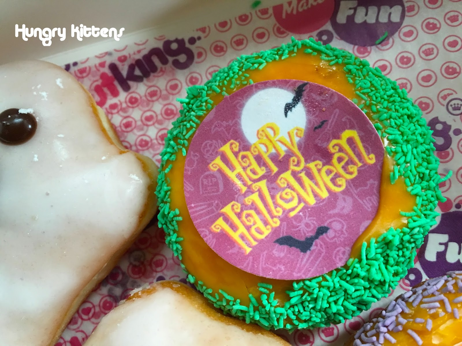 Coming up with scary Halloween-suitable foods is hard. If you look online thereu0027s a million adorable and perfect ideas that other people have created but ... & Hungry Kittens: Easy Halloween Treats with Donut King