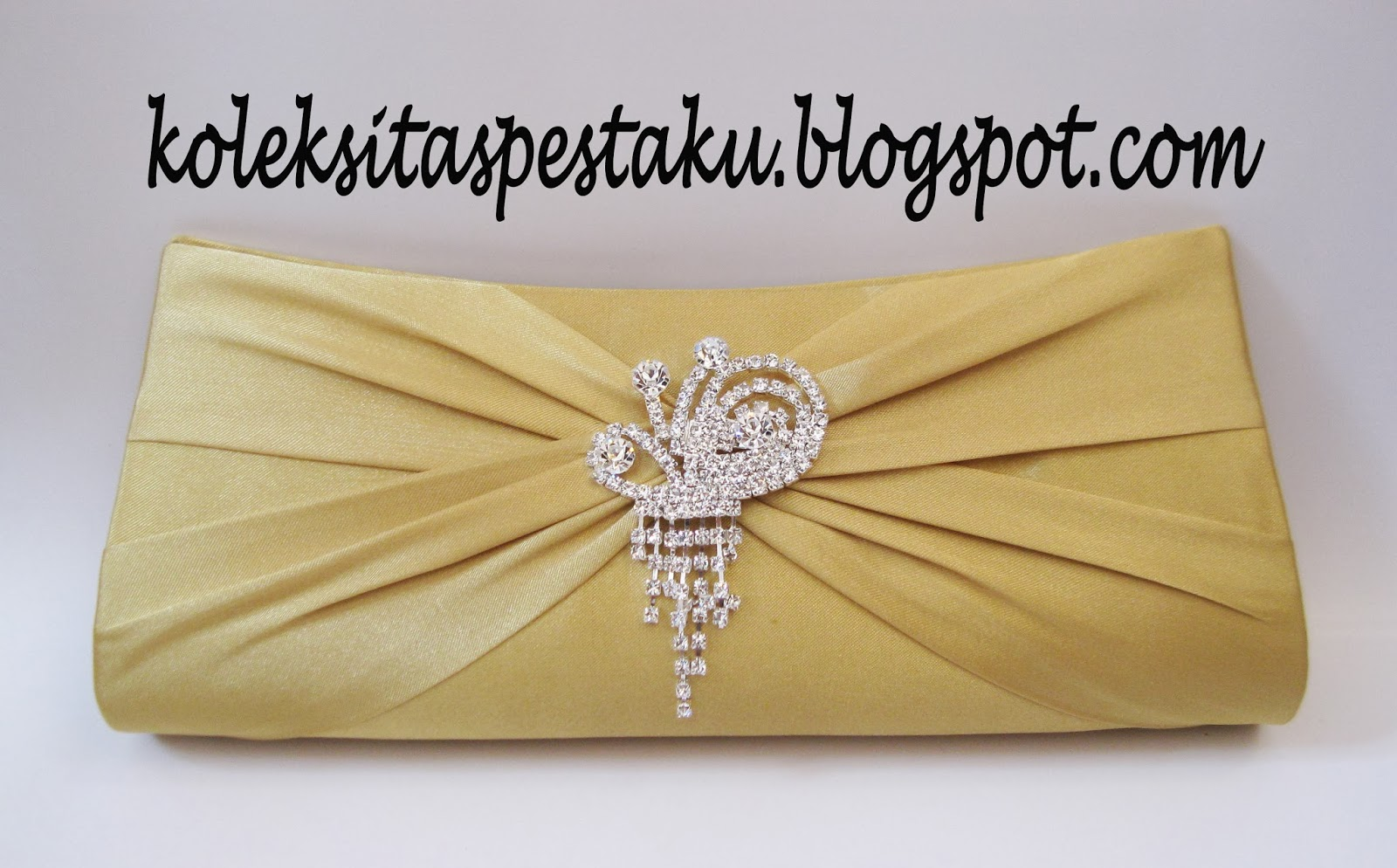 Tas Pesta Clutch Bag Gold Mewah Bross Silver