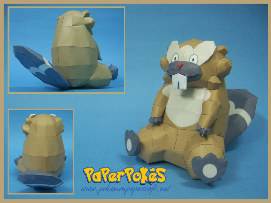 Pokemon Bibarel Papercraft