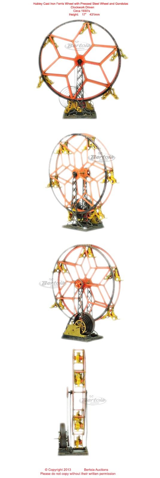 Old Antique Toys: The Hubley Ferris Wheel