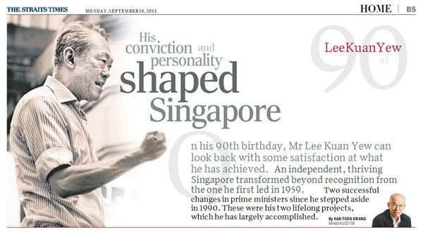 lee kuan yew at 90