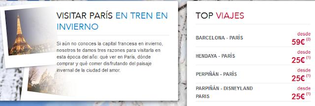 Tren TGV Barcelona Paris