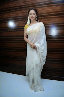 ActressNeetu Chandra Latest Pictures in Saree at Thilagar Audio Launch  0012