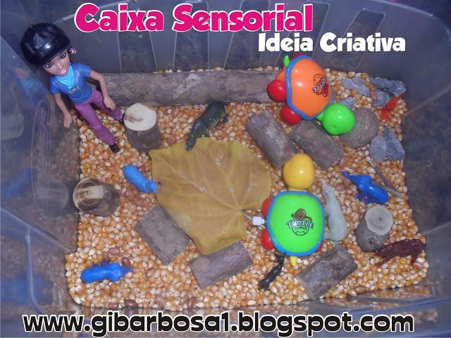 Caixa Sensorial Outono Montessori