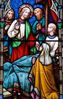 Stained Glass, Jesus healing the sick