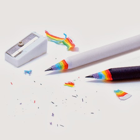 Beautiful Rainbow Pencils by Duncan Shotton