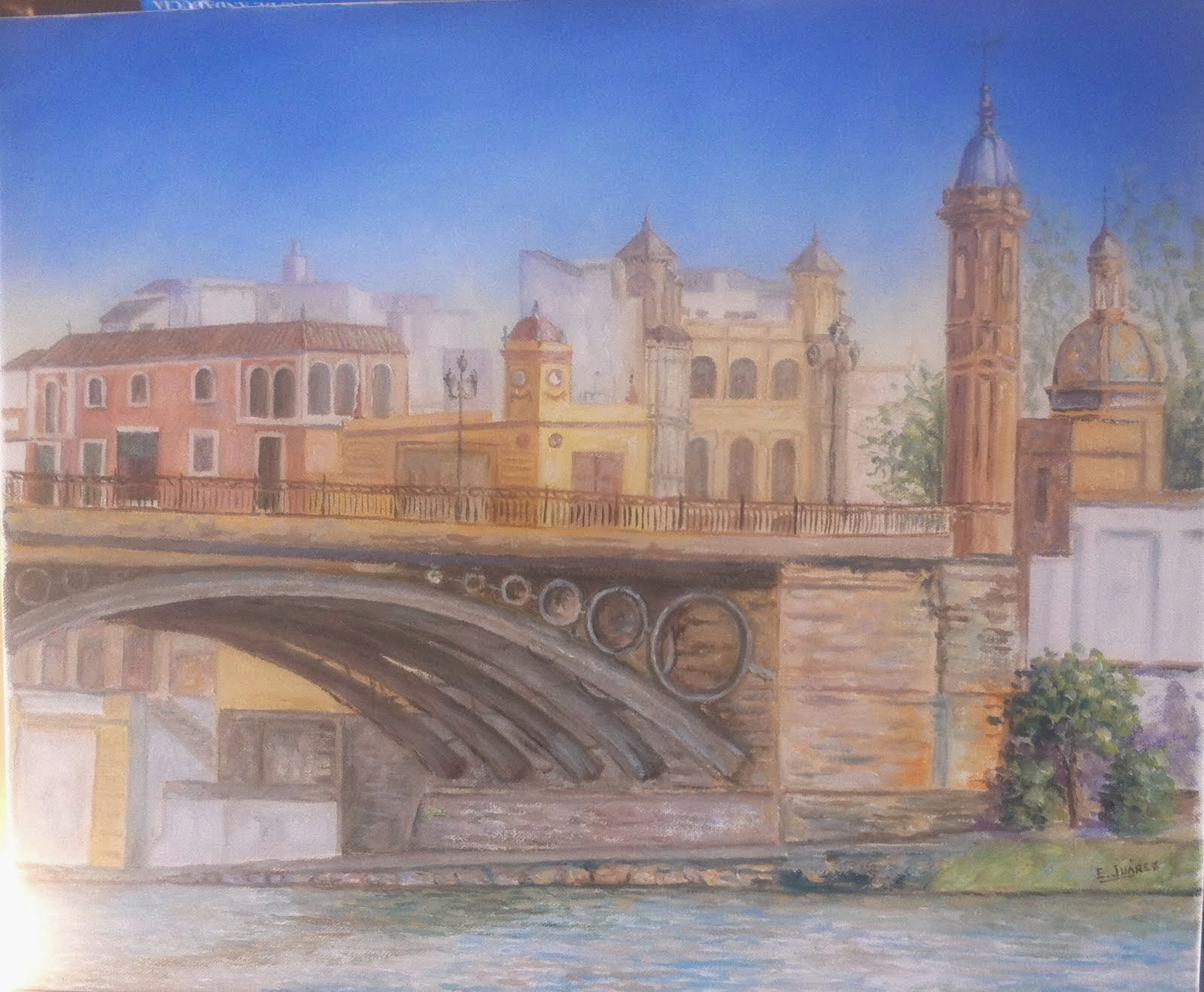 Sevilla.Puente de Triana y Capillita del Carmen