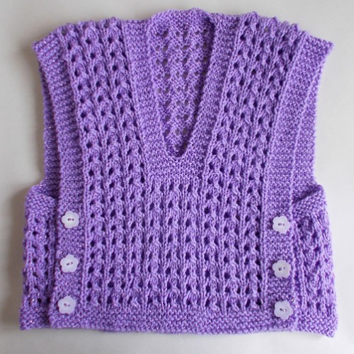 Melika Lacy Baby Vest Top - Free Pattern