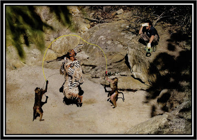 Expo jean Paul Goude Goudemalion Arts Déco Paris photo Naomi Campbell saut a la corde singes