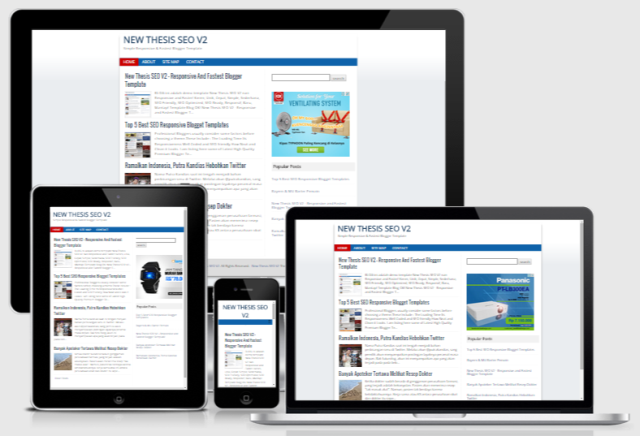New Thesis SEO V2 - Responsive and Fastest Blogger Template