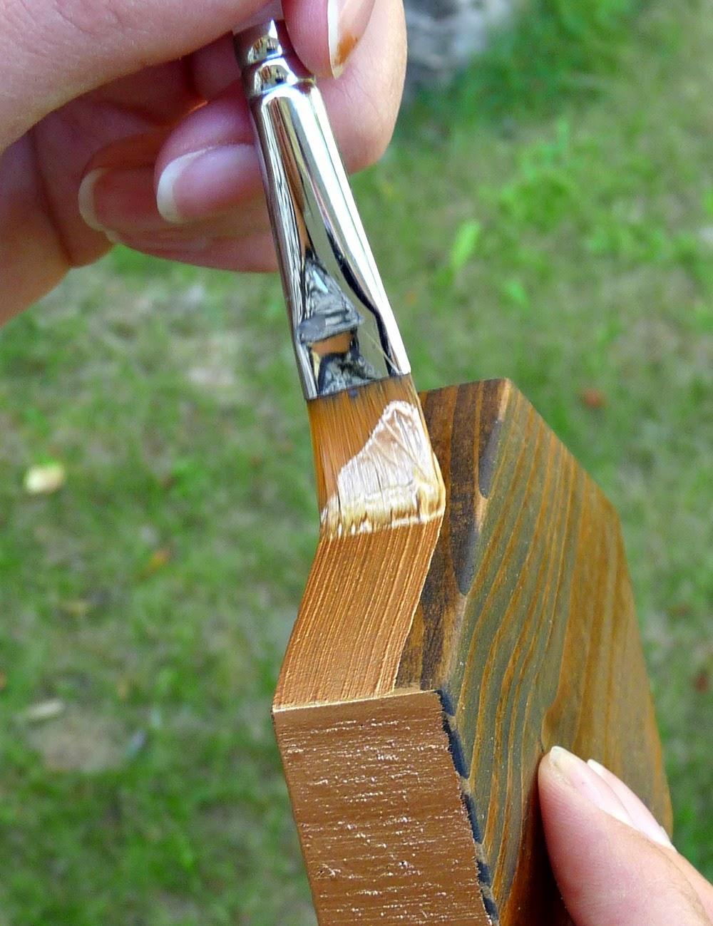 Copper painted edge