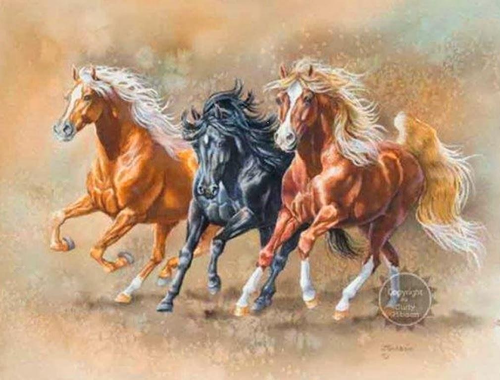 Con caballos y perros