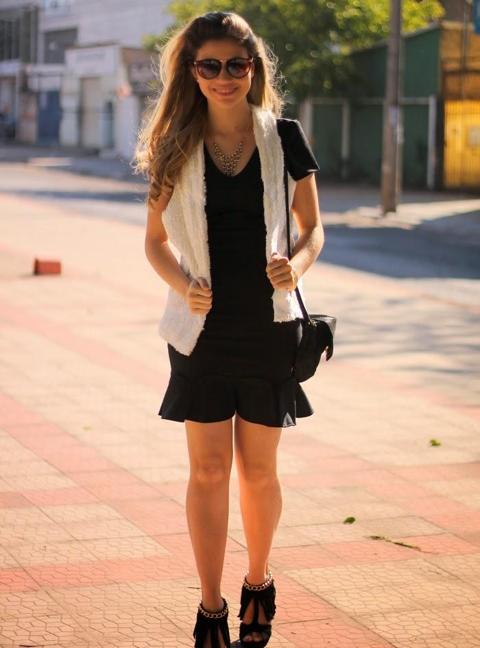 Look de vestido preto