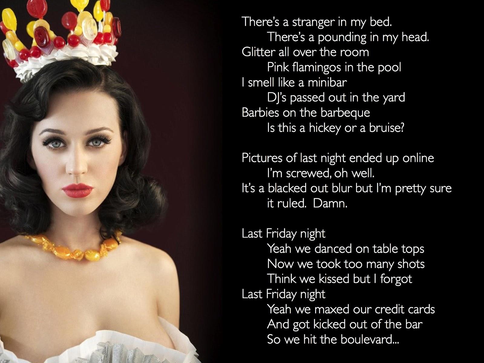 Songtext von Katy Perry - Last Friday Night (T.G.I.F.) Lyrics