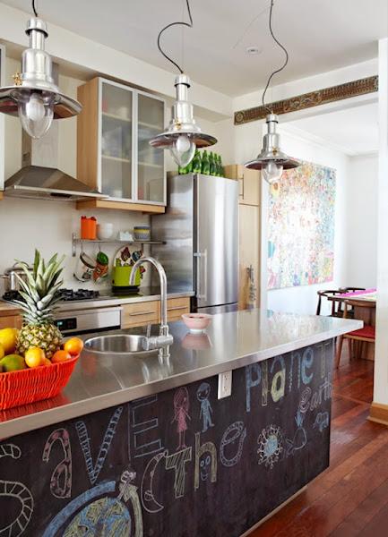 pintura de pizarra en la cocina