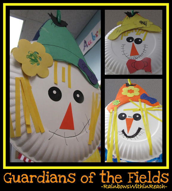 photo of: Fall Craftivity for Kindergarten making Scarecrows via RainbowsWithinReach