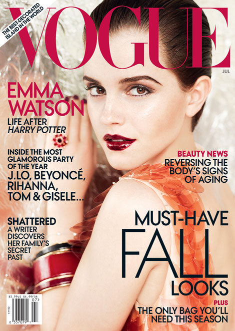 emma watson vogue july us. makeup 2011 Emma Watson Vogue US July emma watson vogue us 2011.