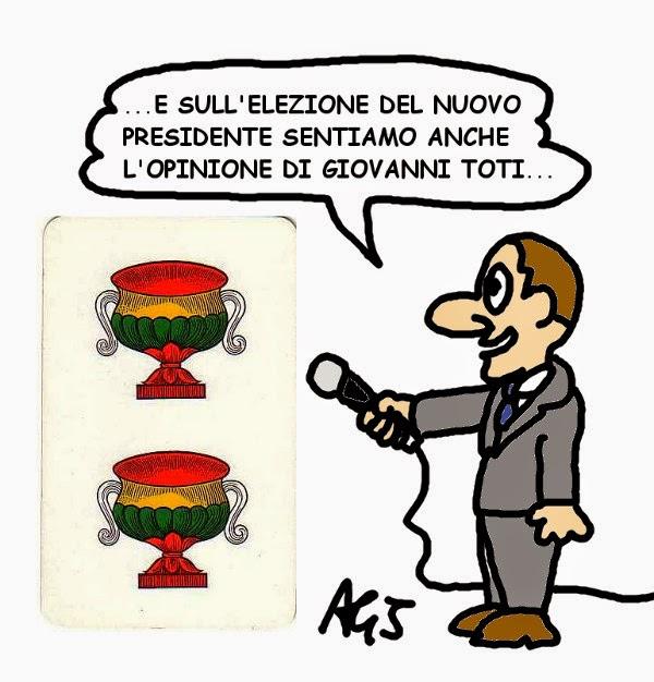 Toti, Forza Italia, quirinale 2015 satira vignetta