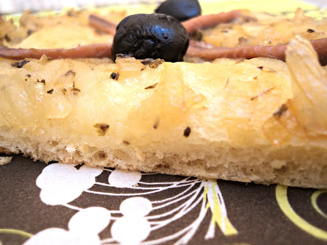 pissaladière, pizza, cebolla, anchoas, aperitivos, cenas, receta