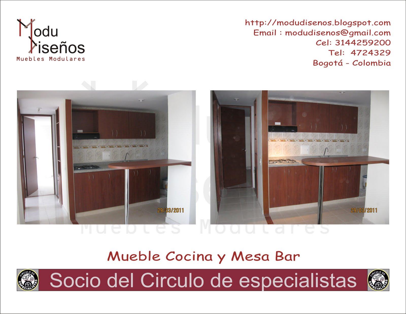 Modudise os mueble cocina y mesa bar - Mueble mesa cocina ...