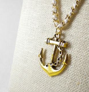 Gold Anchor Nautical Necklace- Studio Eleven 11