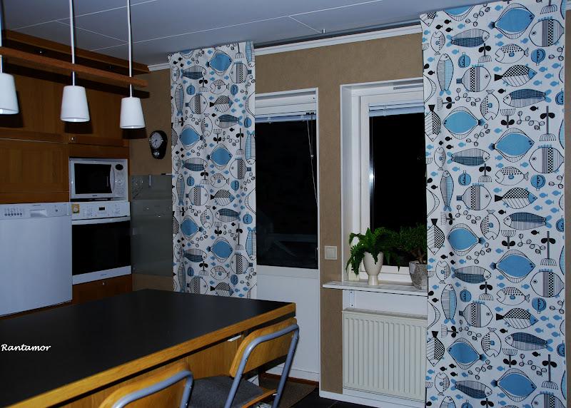 Snygga Gardiner Till Koket : Japp nu har jag sytt nya gardiner till koket