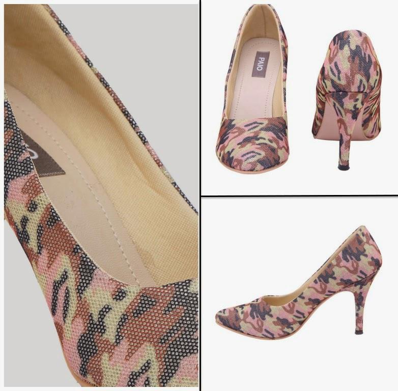 PAIO printed court heels