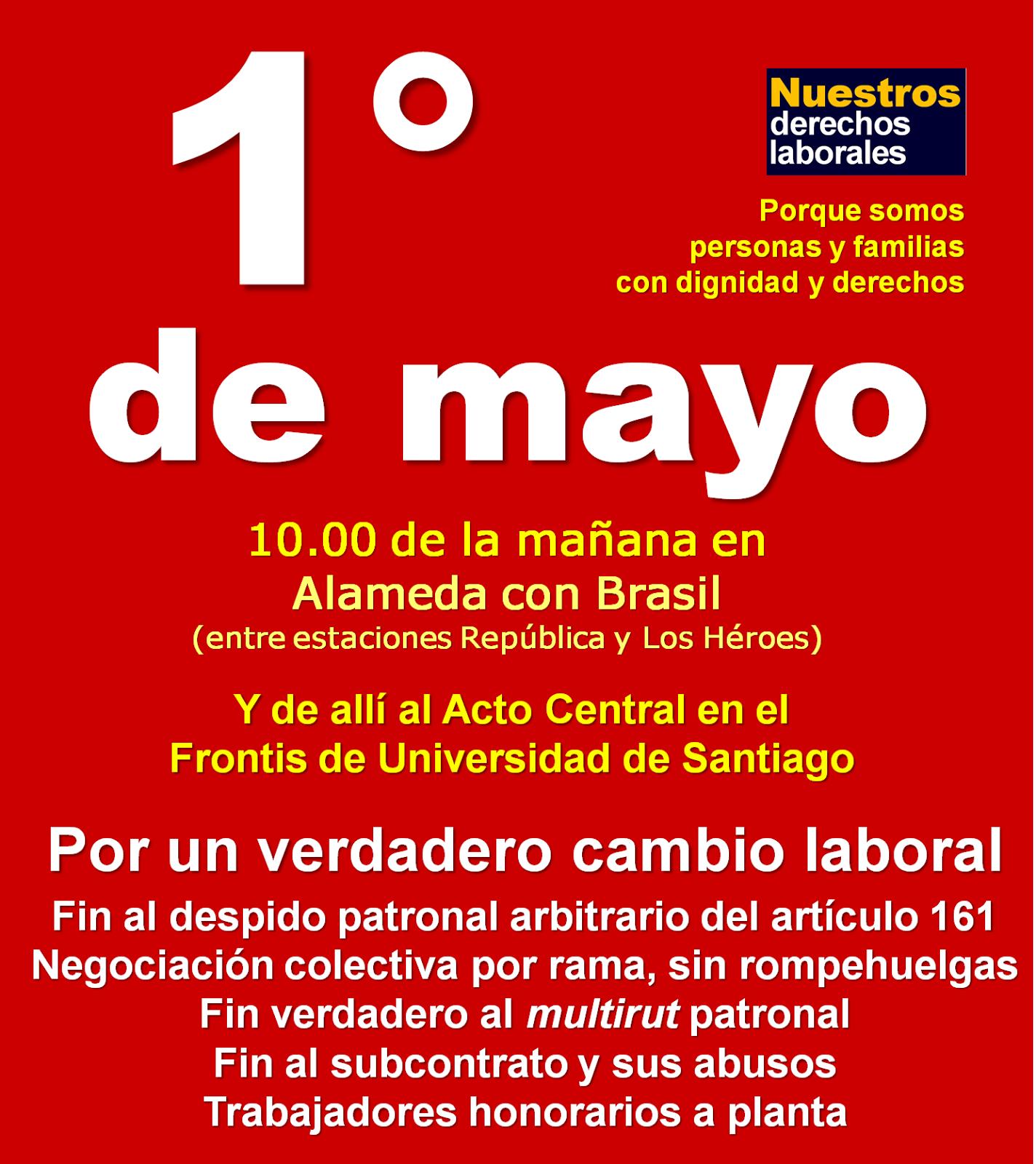 Invitación. 1° de mayo de 2015.