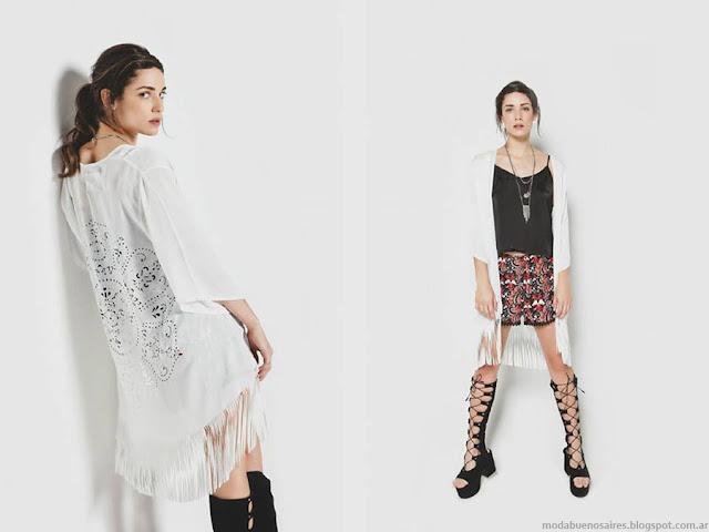 Moda primavera verano 2016 Kimonos. La Cofradía primavera verano 2016.