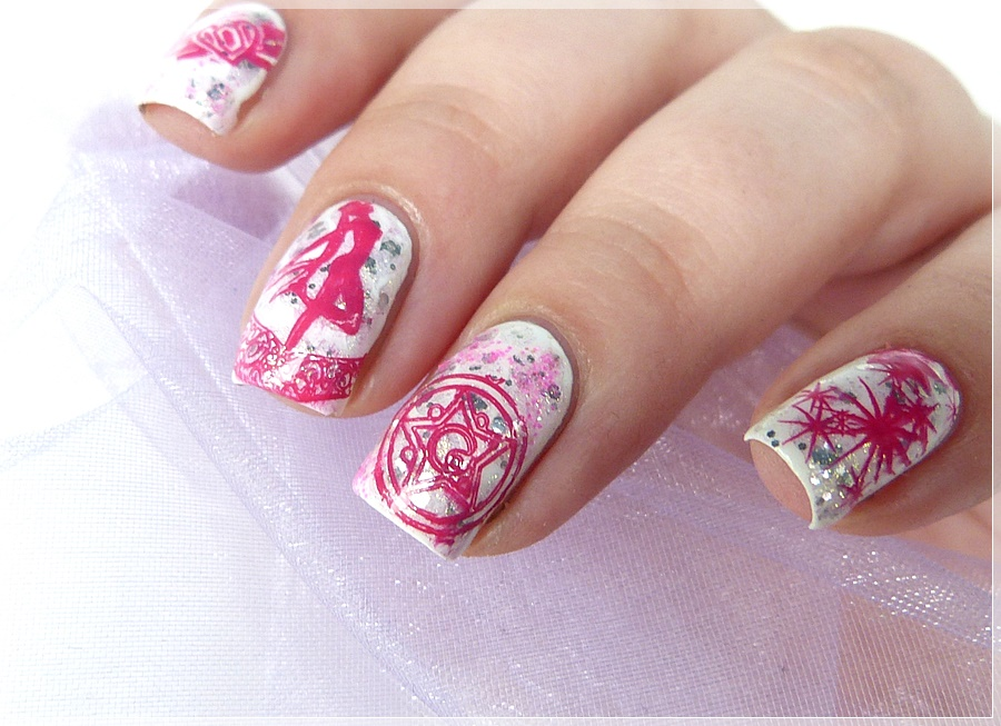 Sailor Moon Stamping Nailart