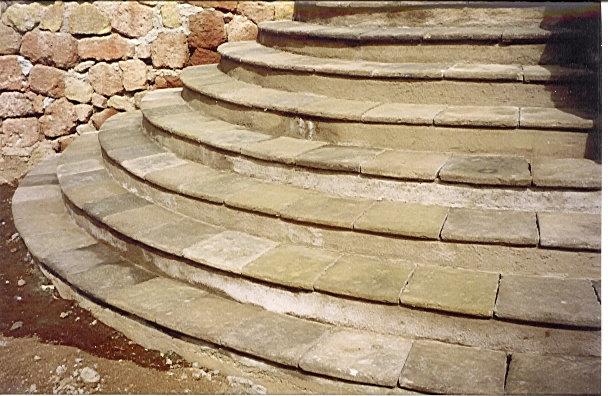 Bassalto piedra artificial escalera r stica piedra - Escalones de piedra ...