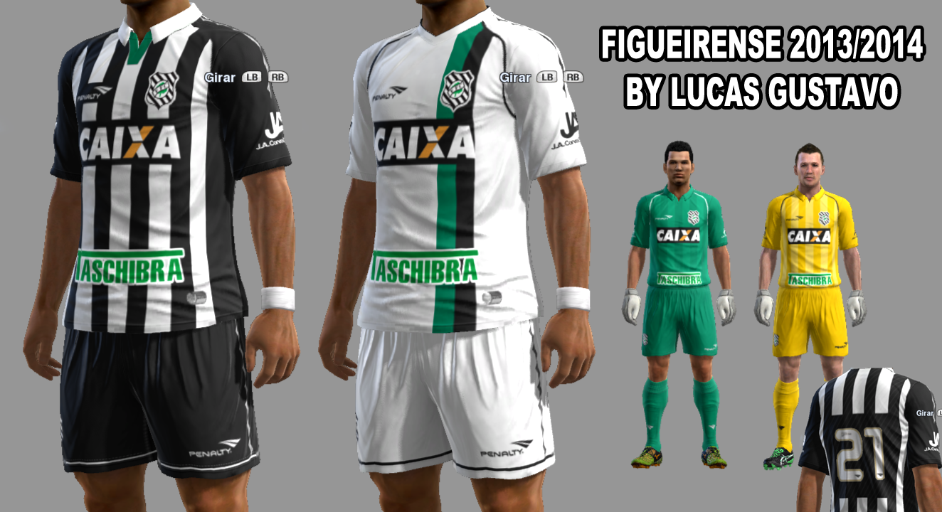 Kitset 2013 do Figueirense FC by Lucas para PES 2013