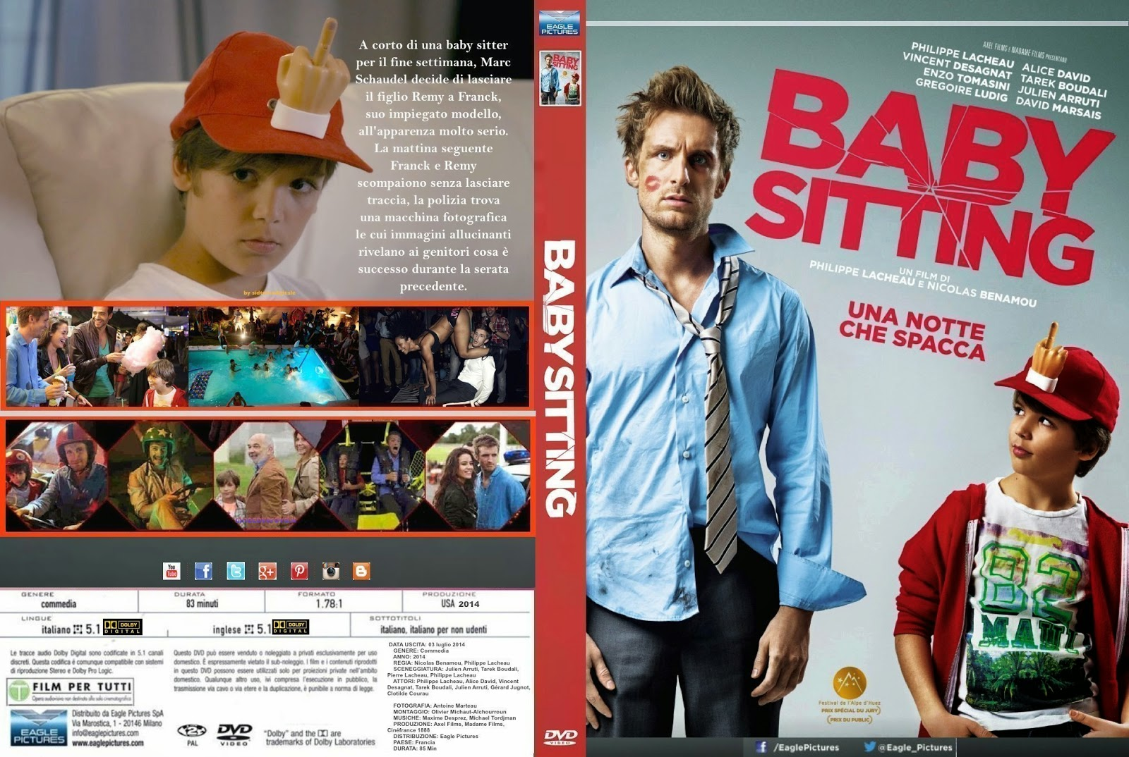Download Babá Fora de Controle BDRip XviD Dual Áudio BabySitting 2014 Front CUSTOM